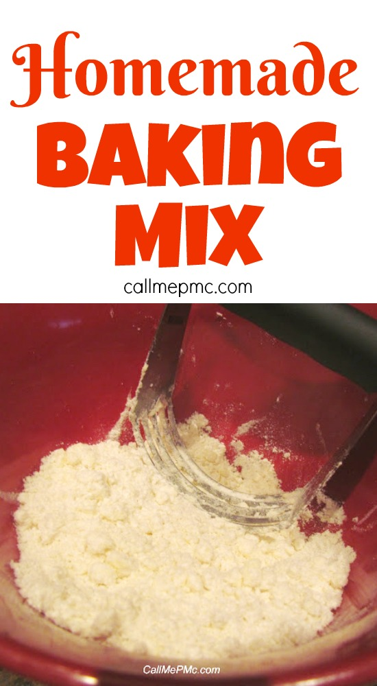 Did you know that you can make your own Homemade Baking Mix? Using common pantry ingredients, you can mix up a batch of this Homemade Baking Mix
