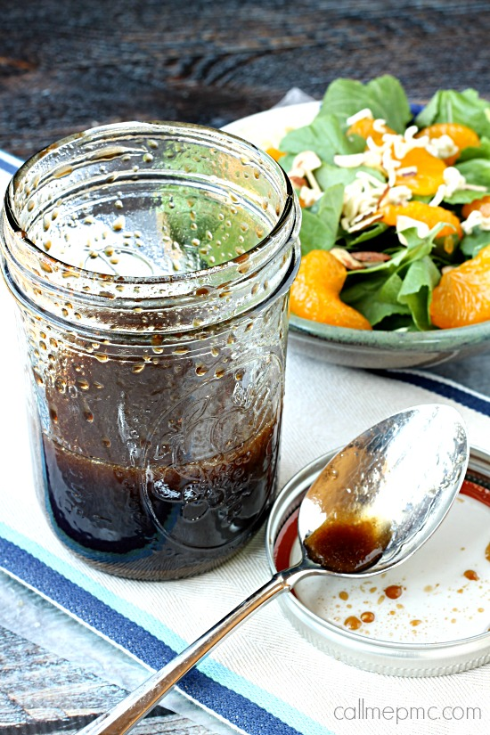 Mason Jar Salad Dressing Balsamic vinaigrette