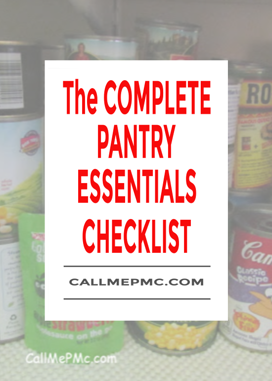 The Complete Pantry Essentials Checklist