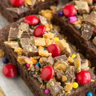 Candy Topped Brownies