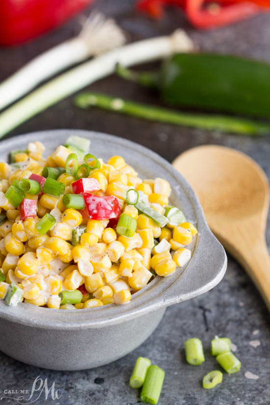 Corn Salad recipe - this refreshing salad is great for potlucks and will be gobbled up quickly.