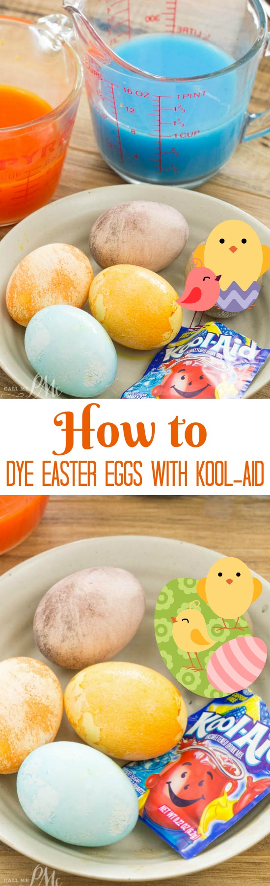 How to Dye Easter eggs with Kook-Aid craft. DIY.