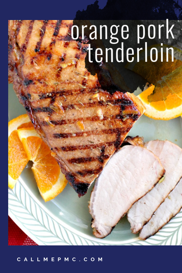 Orange Marmalade Pork Tenderloin - grilled & glazed with orange marmalade & spices. Great for entertaining or easy enough weeknight dinner! #recipe #pork #tenderloin #grilled #orange via @pmctunejones