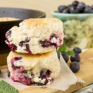 Decadent Blueberry Biscuits