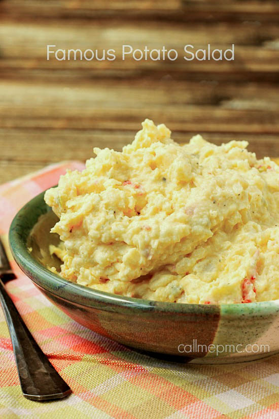 Famous Potato Salad, classic picnic food, this verson is creamy.