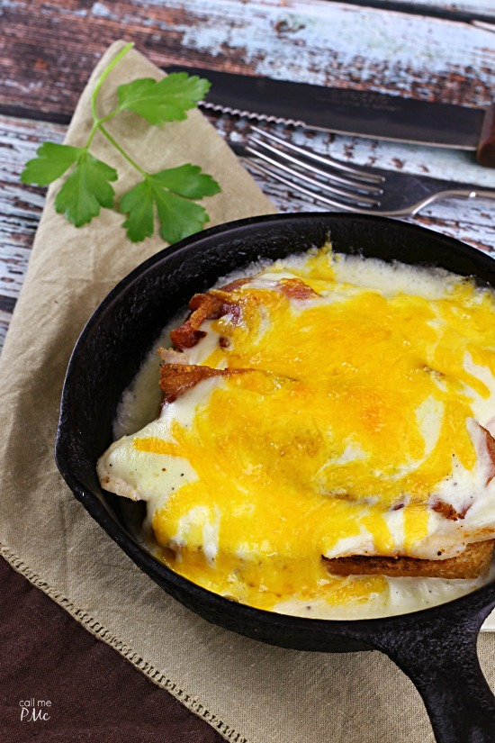 Kentucky Hot Brown a classic, open-face sandwich recipe. The Kentucky Hot Brown is served hot with a creamy sauce and melted cheese.