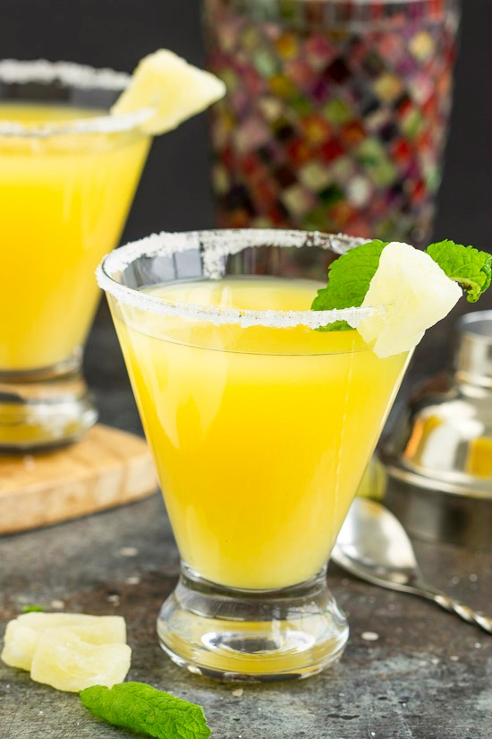 Sweet and festive, a Pineapple Martini is a crazy delicious tropical inspired martini.