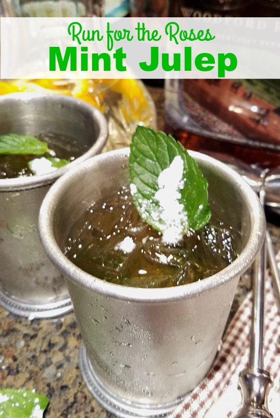 A Mint Julep is an alcoholic cocktail made with bourbon, crush mint, ice, and water and served in a silver julep cup. It's the traditional drink at Churchill Downs and the Kentucky Derby