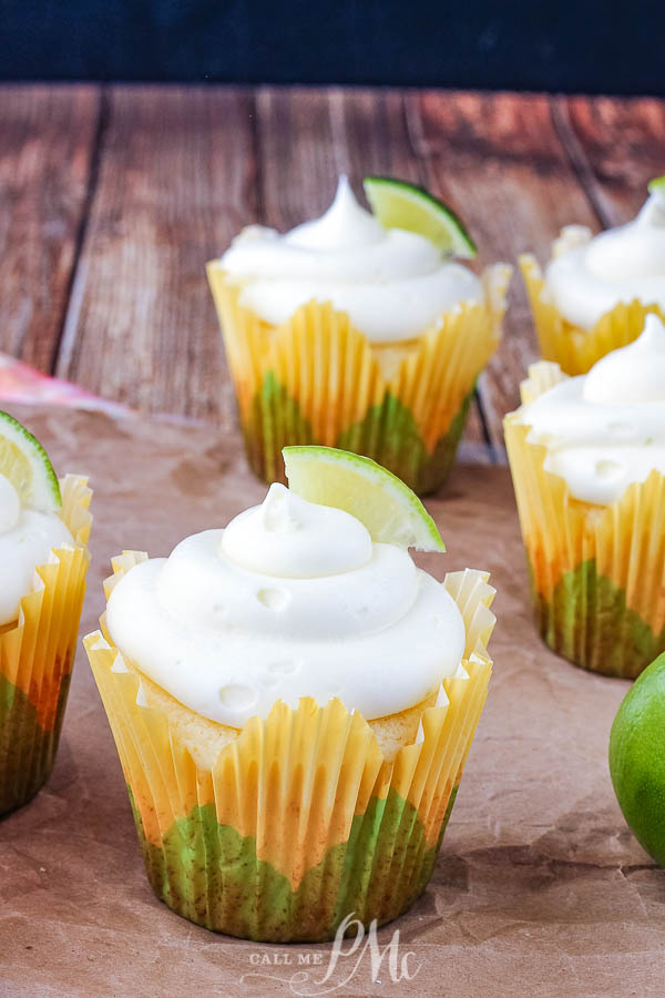 Moist, tart and sweet these Margarita Cupcakes are full of lime, margarita mix and, yes, tequila! #margarita #dessert #cake #cupcake #tequila #lime