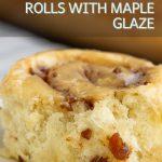 Bacon Cinnamon Rolls with Maple Glaze