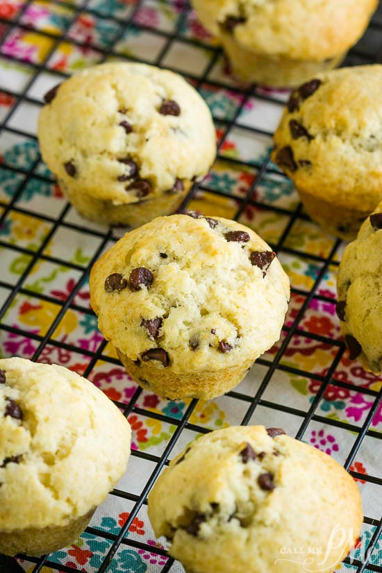 Homemade muffins with chocolate Chips
