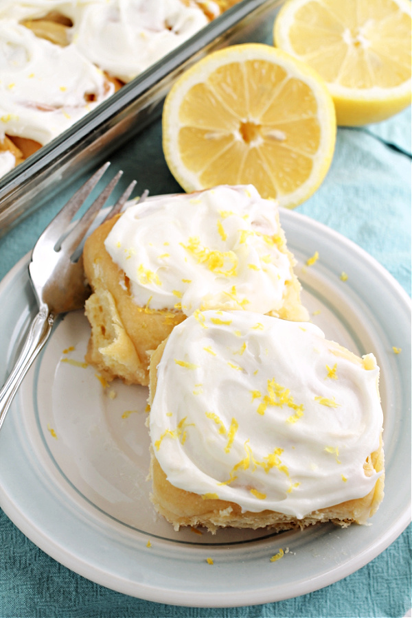 These ooey and gooey Lemon Sweet Rolls Recipe has a bright lemony citrus flavor throughout and a delightful gooey lemon cream cheese icing!