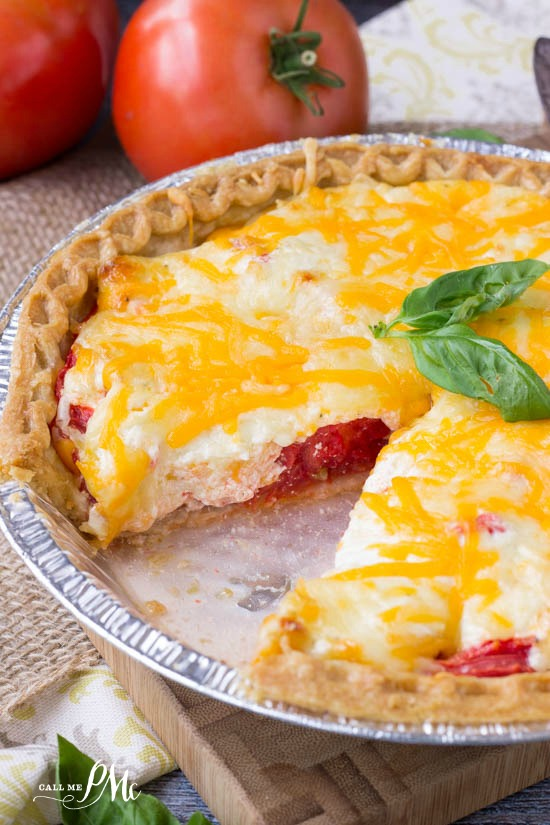 Make the most of those fresh tomatoes with a savory Traditional Southern Tomato Pie. It's full of flavor from two cheeses, fresh sun ripened tomatoes and a buttery pie crust.