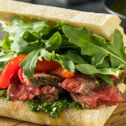 Quick, easy, and delicious, this Steak Sandwich recipe is bursting with flavor in every single bite. #steak #steaksandwich #ribeye