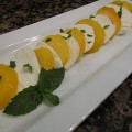 """Peach """"Caprese"""" Salad with Balsamic Reduction"""