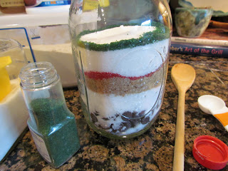 Sand Art Brownies in a Jar