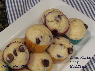 These Chocolate Chip Muffins are soft, fluffy and moist! They are studded with chocolate chips in every bite.