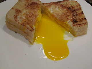Egg in a Hole Grilled Cheese