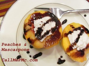 peaches with balsamic reduction