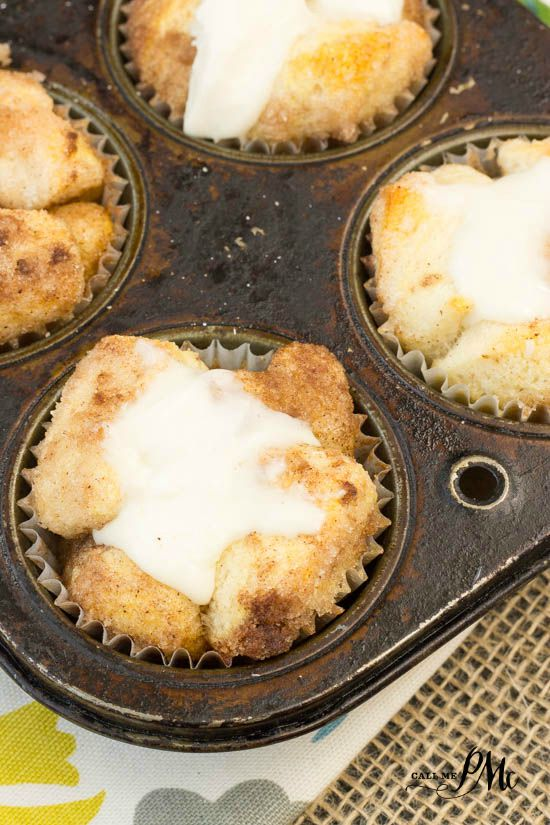 Cinnamon Roll Cupcakes Monkey bread - great recipe for individual servings