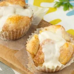 Cinnamon Roll Monkey bread cupcakes
