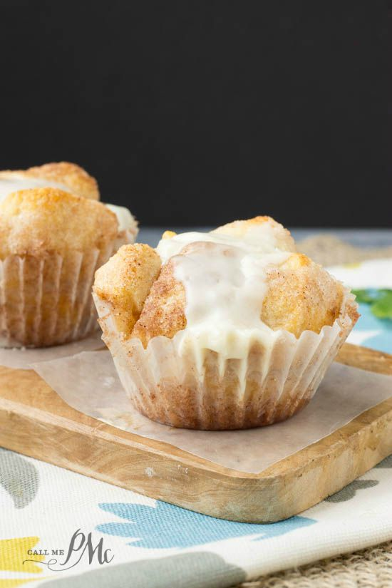 Easy Cinnamon Rolls cupcakes or Monkey Bread Cupcakes - These semi-homemade treats use refrigerated biscuit dough