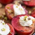 Grilled Plums with Mascarpone