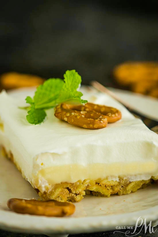 No Cook Lemon Crunch Dessert Recipe is a no bake dessert sensation that's crunchy, smooth, sweet, and salty.