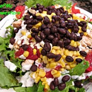 Southwestern Salad with Green Chile Lime Salad Dressing