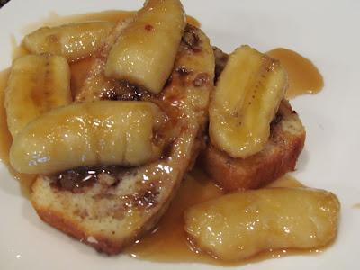 Peanut Butter Bread Bananas Foster!
