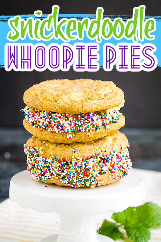 snickerdoodle whoopie pie recipe