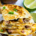 BBQ PULLED PORK QUESADILLA