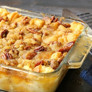 Pecan Pie Bread Pudding f