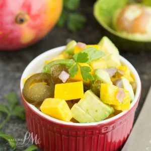 Red Onion, Avocado, and Mango Salsa is a tasty salsa recipe. It's super easy to make, very flavorful, and extremely versatile.