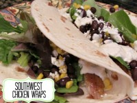Southwest Chicken Wraps with Southwest Sauce