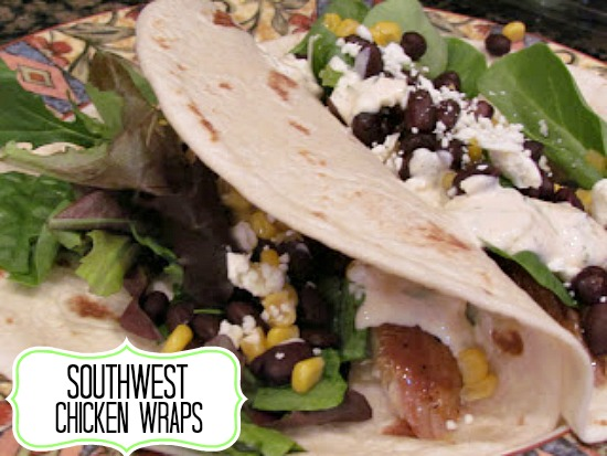Southwest Chicken Wraps www.callmepmc.com