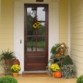 Adding Fall Color to the Front Door