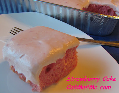 Easy Strawberry Cake via Call Me PMc, take a shortcut to this wonderful dessert and noone has to know!