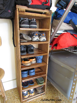 ScrapWood Shoe Rack