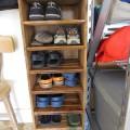 DIY Shoe Rack from Scrap Wood
