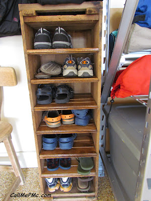 DIY Shoe Rack from Scrap Wood