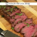 Six Minute Flat Iron Steak