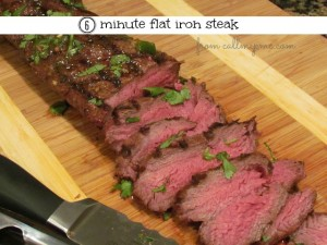Six Minute Flat Iron Steak from callmepmc.com #callmepmc #grill #steak