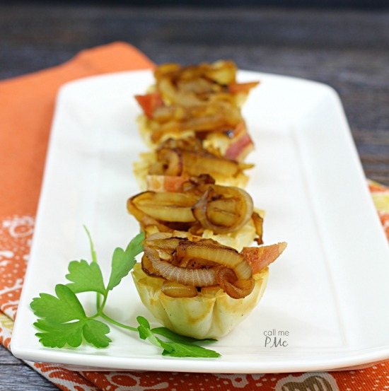 recipe. Brie and Onion Bites - you'll love the ease of this appetizer recipe, your guests will love how tasty it is! Each bite features a mini-size portion of creamy brie and a dollop of caramelized onions.