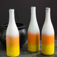 Candy Corn Painted Bottles
