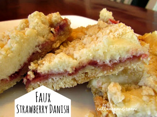 Faux Strawberry Danish