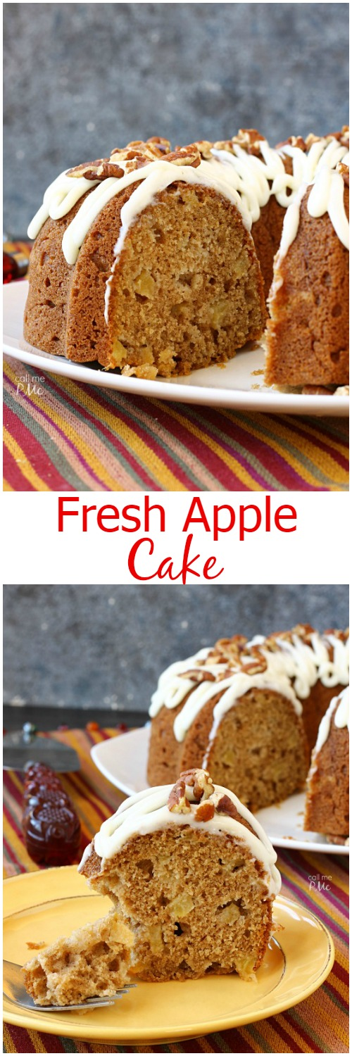 Fresh Apple Cake easy dessert recipe and family favorite -Moist, tender and full of warm fall spices, this Fresh Apple Cake is a delicious classic.