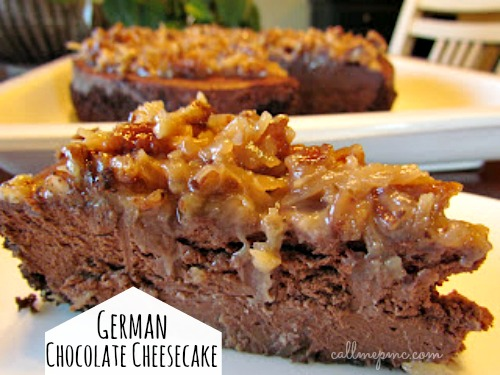 German Chocolate Cheesecake #callmepmc