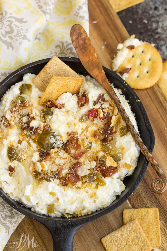 This Jalapeno Popper Dip recipe is a definite favorite and always a crowd-pleaser! Rich, creamy, spicy, and tons of flavor. This dip is loaded with spicy jalapenos and ... and best of all bacon!!