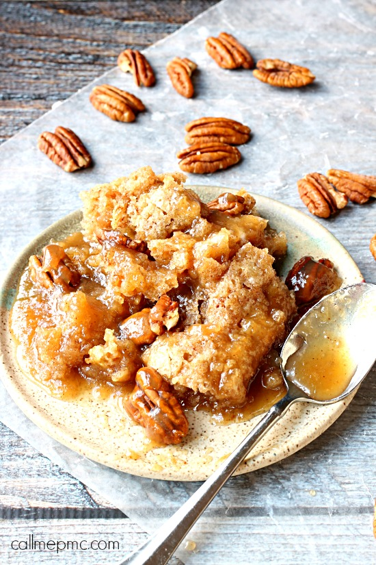 Rich and luscious, not only is Pecan Cobbler crazy simple to make, it's crazy delicious too!